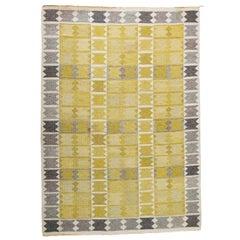 Vintage Ingrid Dessau Flat-Weave Swedish Carpet