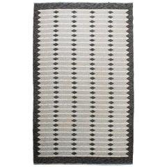 Vintage Swedish Flat-Weave Carpet