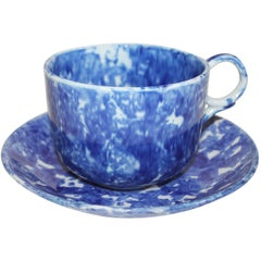 Sponge Ware 19th Century Mush Cup/Large