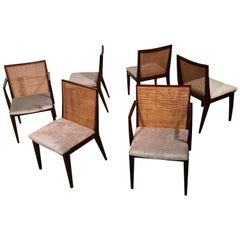 Edward J Wormley for Dunbar Dining Chairs, Set of Six - Mid Century Modern