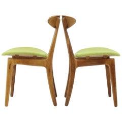 Pair of Scandinavian Oak Chair, 1960
