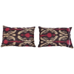 Pillow Cases Fashioned Out of Contemporary Uzbek Silk and Cotton Ikats