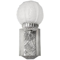 Cherrier & Besnus French Art Deco Wall Sconce, 1925