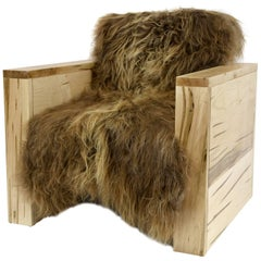 Sentient Joojay Armchair in Maple and Icelandic Sheepskin