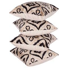 Pillow Cases Fashioned Out of Contemporary Uzbek Silk Velvet Ikats