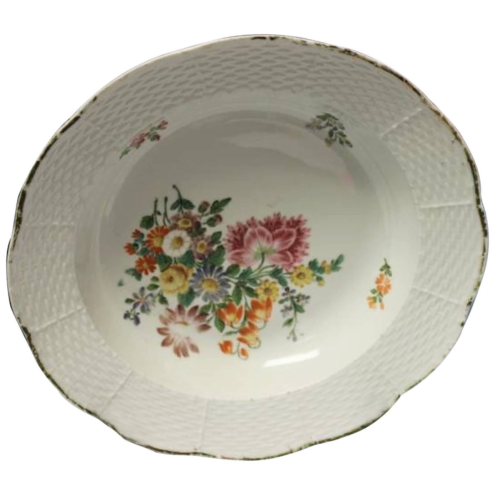 19th Century Meissen Porcelain Soup Bowl