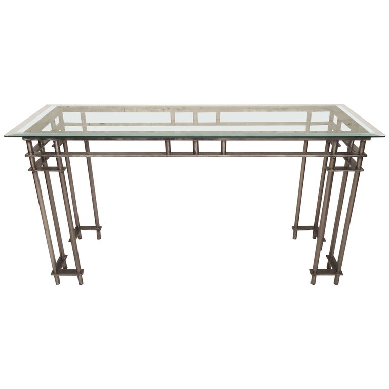 Refinished Metal Console Table