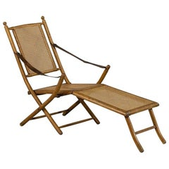 1920s Original French Line Deck Chair