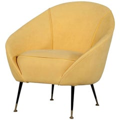 Retro Crescent Shaped Chair in Manner of Federico Munari