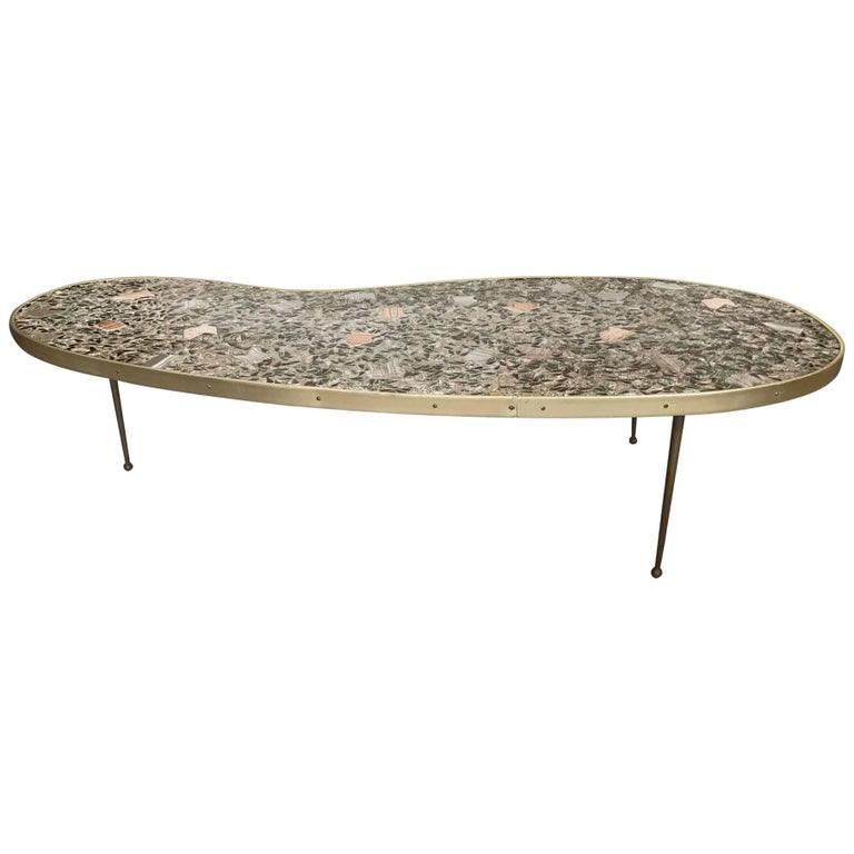 Unusual Tile Biomorphic Coffee Table
