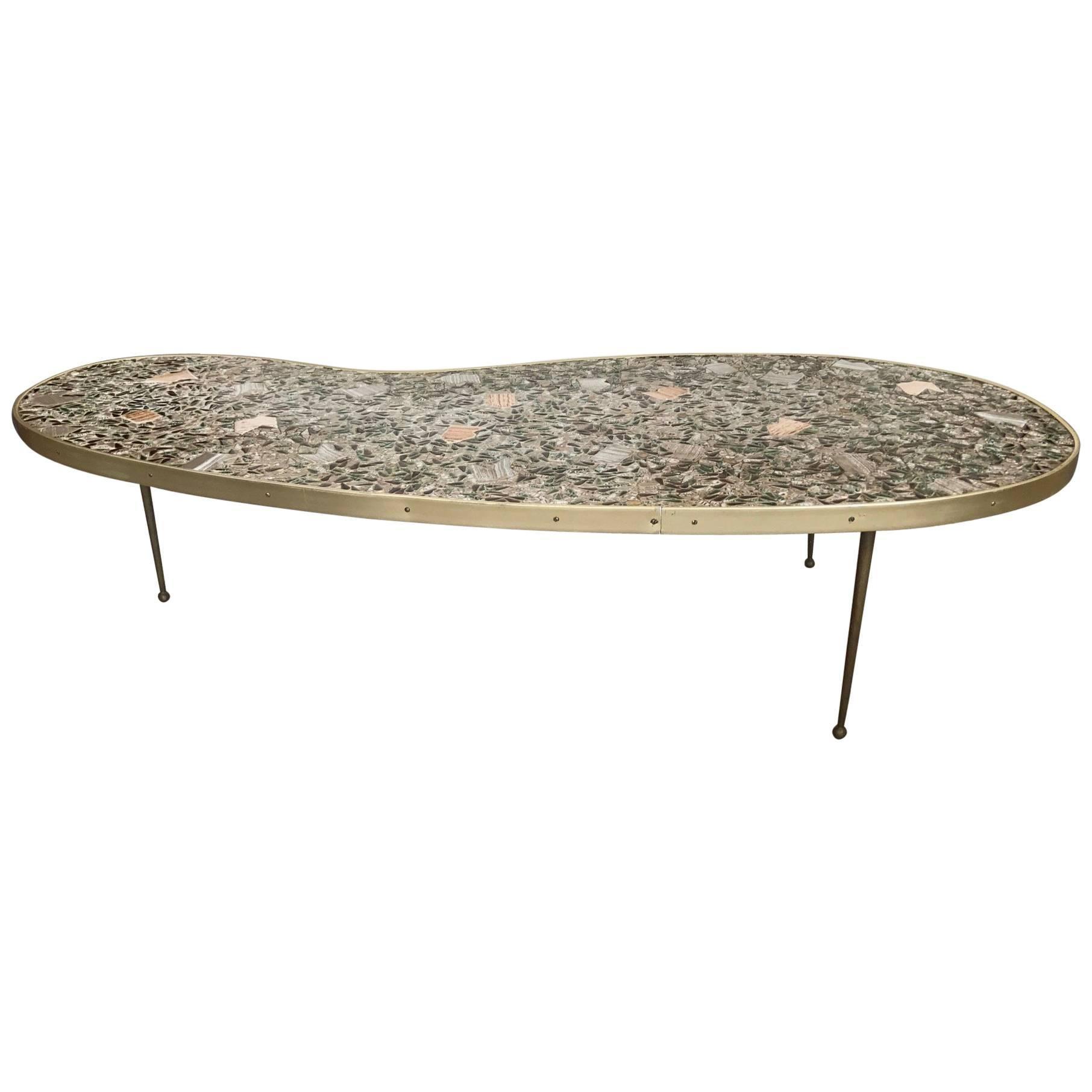 Merveilleux Unusual Tile Biomorphic Coffee Table