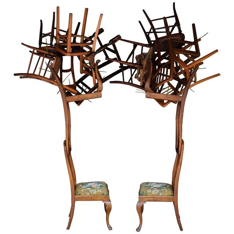 Contemporary 'In The Woods' Tree Sculptures by Karen Ryan, Set of 2