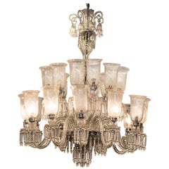 Louis XV Style French Crystal Carved Chandelier