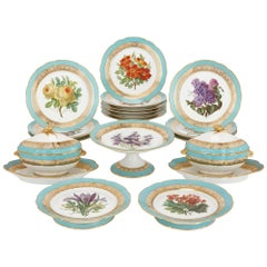 Extensive 17 Piece Paris Porcelain Dessert Service by Edouard Honoré