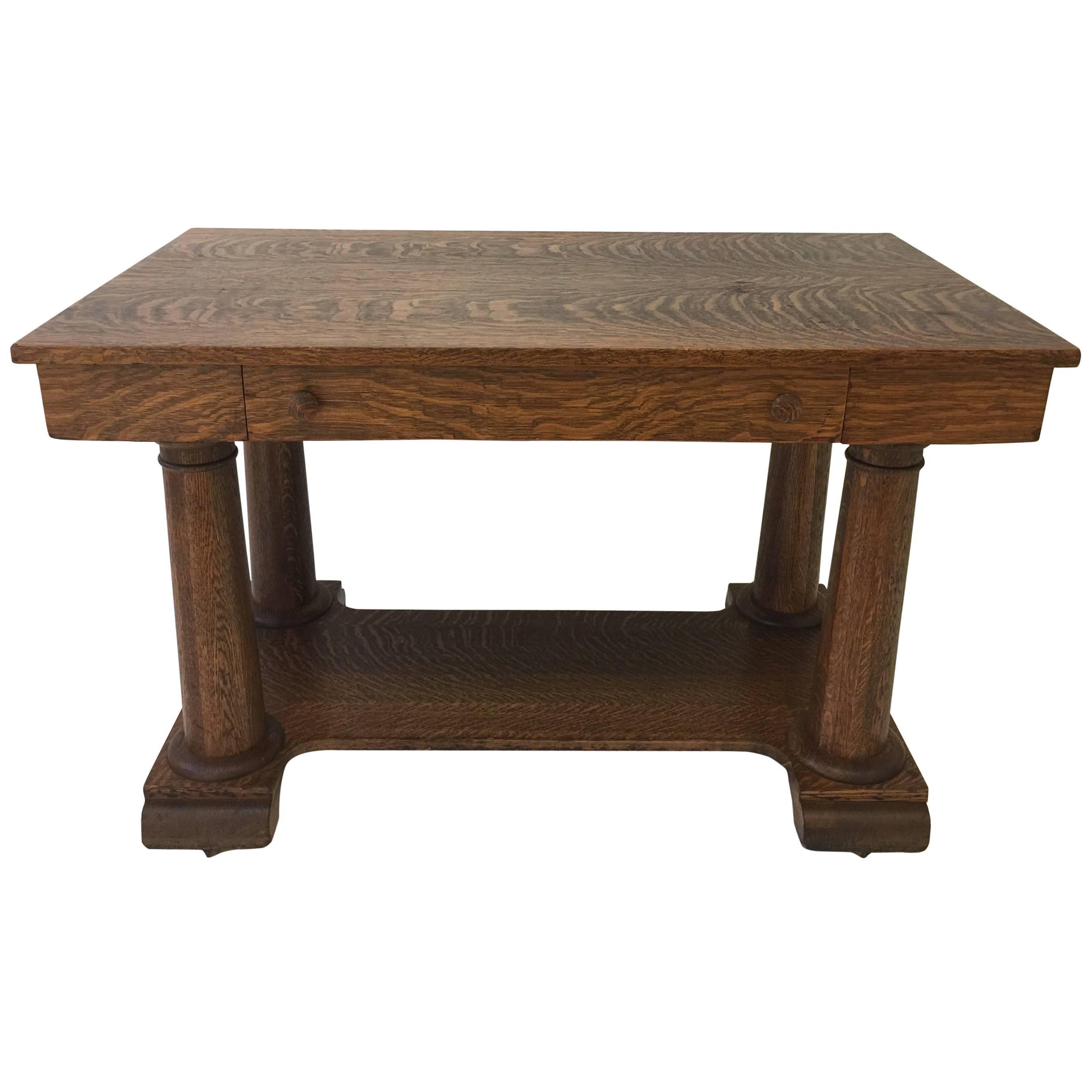 Tiger Maple Arts & Crafts Desk or Table