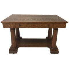 Tiger Maple Arts & Crafts Desk or Table