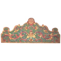 Chinoiserie Carved ,Painted and Giltwood Overdoor Panel