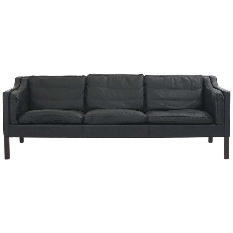 Leather Børge Mogensen Three-Seat Sofa 1