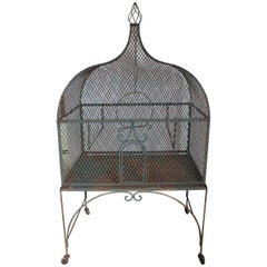 19th Century French Wrought Iron Bird Cage