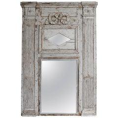 Louis XVI Trumeau Mirror Rare Large-Scale
