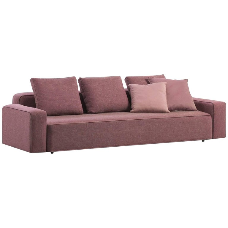 Roda Danday Indoor/Outdoor Sofa in Plot D04 Fuchsia Upholstery For Sale