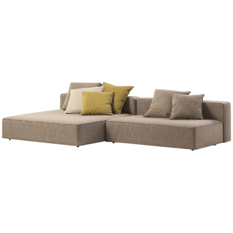 Roda Dandy Indoor/Outdoor Sectional in Plot D01 Sand Upholstery For Sale