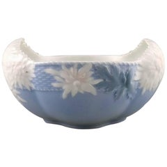 Rare Royal Copenhagen Art Nouveau Bowl Decorated with Flowers and Foliage