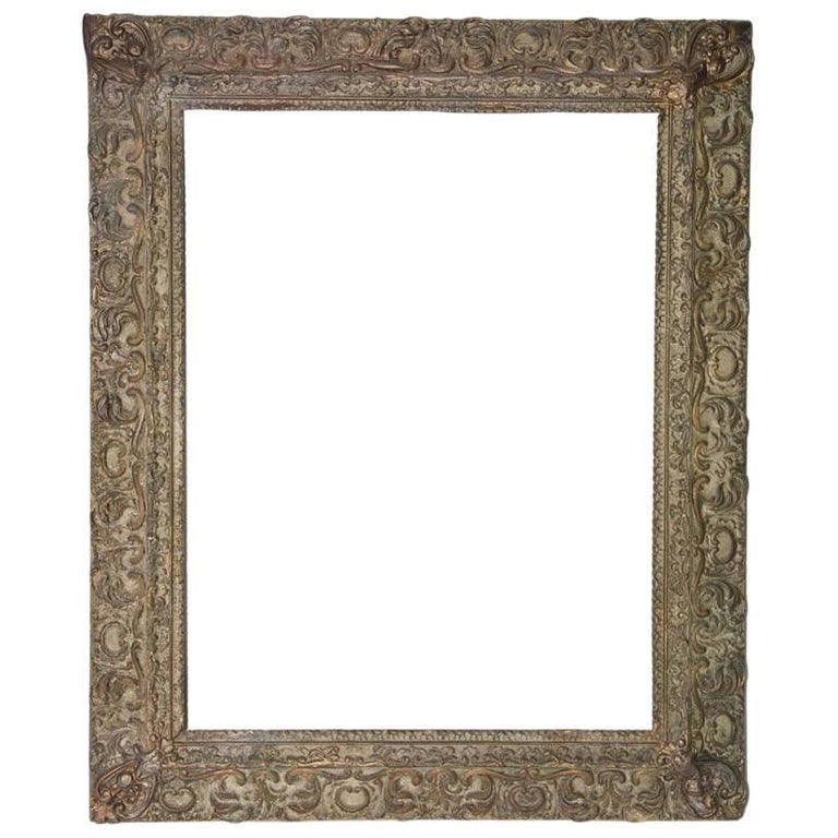 Renaissance-Style Frame with Leaves and Scrolls For Sale
