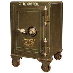Antique Spector Safe on Wheels Painted & Pinstriped Steel