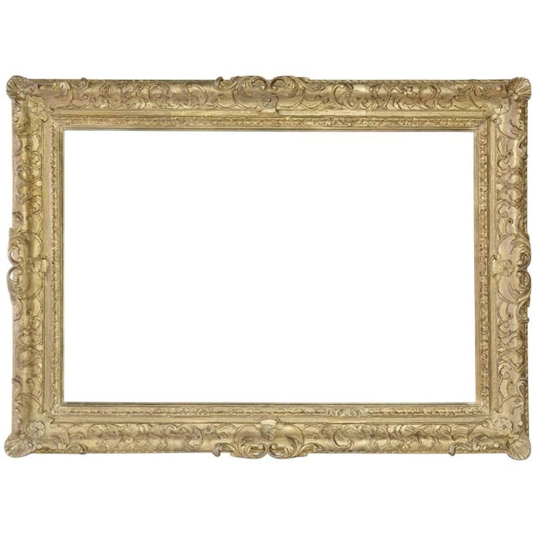 Vintage French-Style Frame with Molded Leaves For Sale
