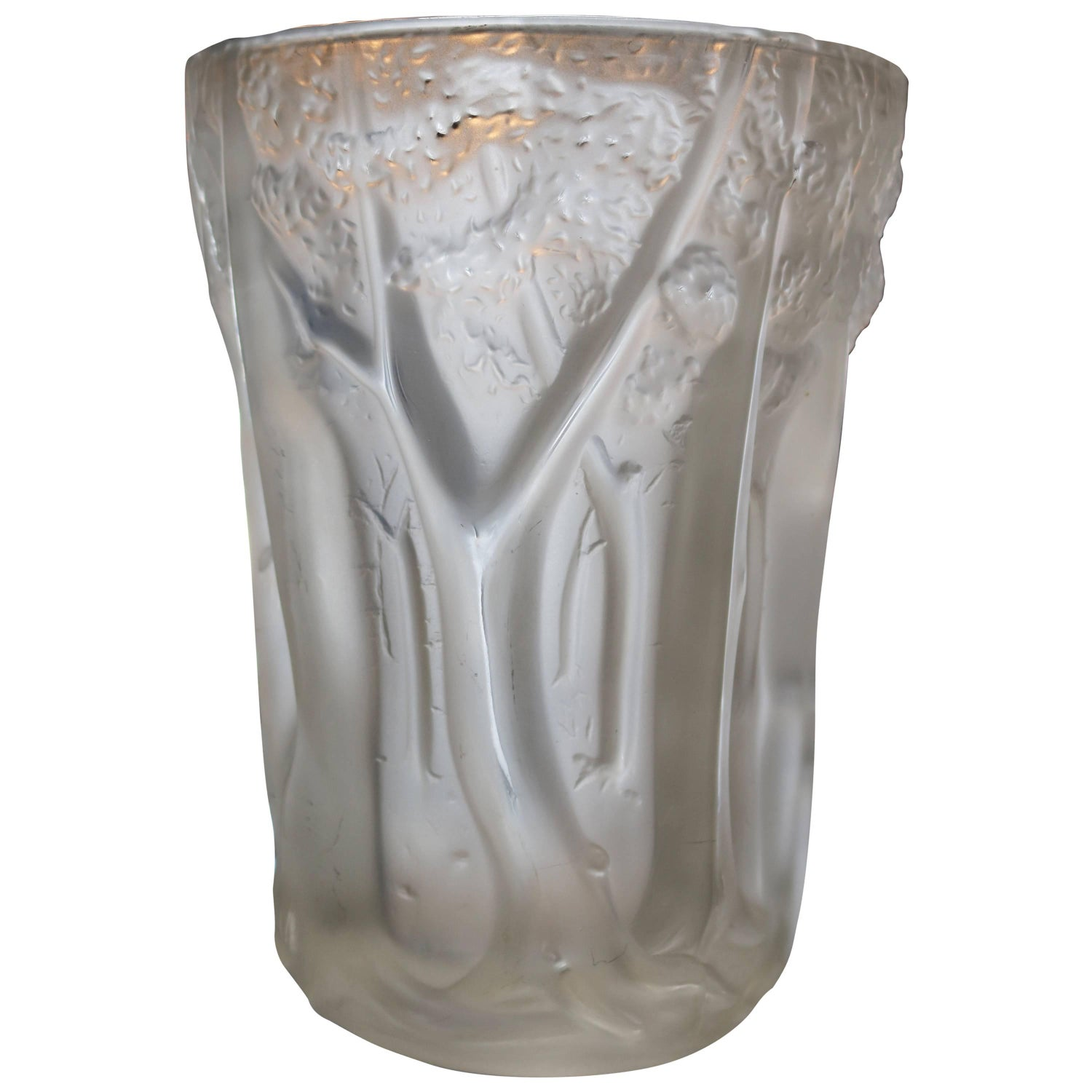Frosted molded glass vase with forest scene in relief for sale at frosted molded glass vase with forest scene in relief for sale at 1stdibs reviewsmspy