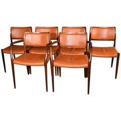 Niels Otto Møller Rosewood Chairs Model 80/65