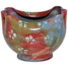 Art Nouveau Multicolored Pottery Bowl