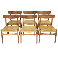 Hans Wegner CH23 Chairs, Set of Six