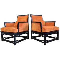 Pair of Lounge Chairs, James Mont Style