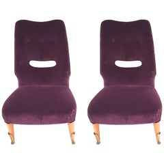 Pair of Vintage Italian, 1950s Side Chairs