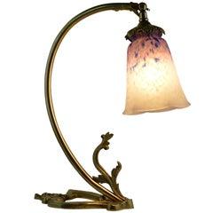 Charles Schneider French Art Deco Bronze Desk or Table Lamp, 1924-1928