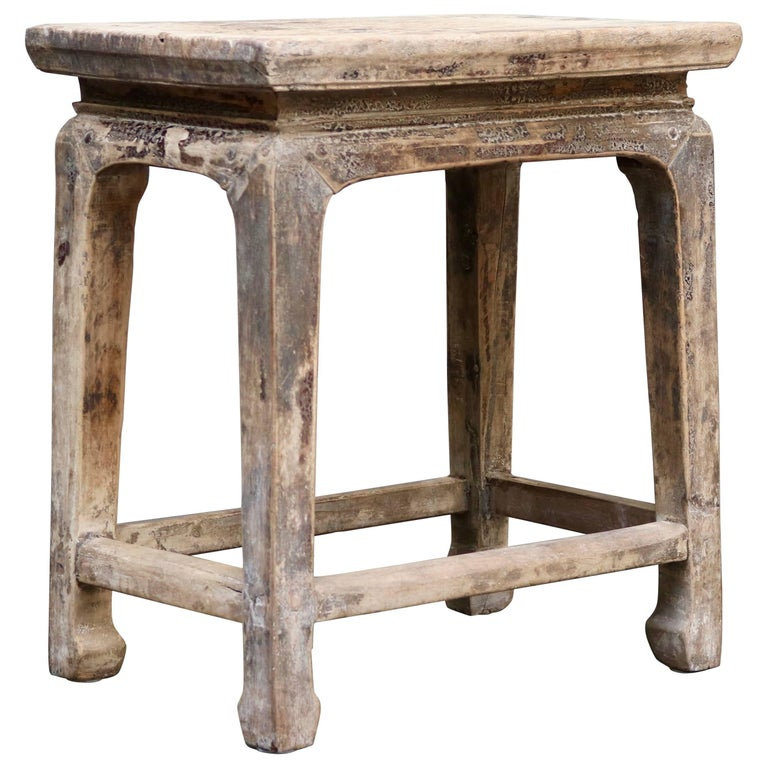 Chinese Wooden Stool from the Shanxi Province For Sale