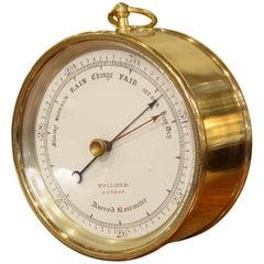Victorian Vidie Style Brass Cased Aneroid Barometer