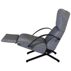 P40 Osvaldo Borsani, Salt and Pepper Reclining Lounge Chair