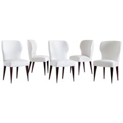 Set of Five Gio Ponti Dining Chairs for Casa E Giardino, Italy, 1942