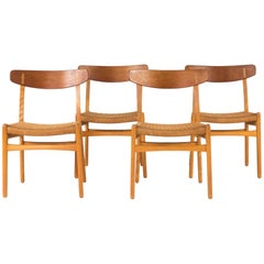 "Set of Four ""CH 23"" Dining Chairs by Hans J. Wegner"