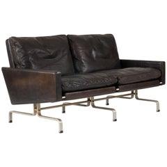"""Two Seat """"PK 31"""" Leather Sofa by Poul Kjaerholm"""