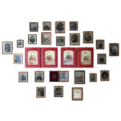 Sizeable Collection of 28 Victorian Framed Ambrotype & Daguerrotype Portraits