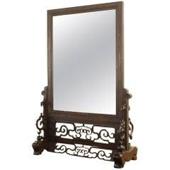 19th Century Rosewood Chinese Mirror