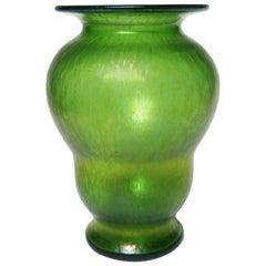 Loetz Art Nouveau Crete 'Green' Ciselé Vase