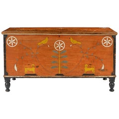 Centre County Pennsylvania Painted Poplar Dower Chest