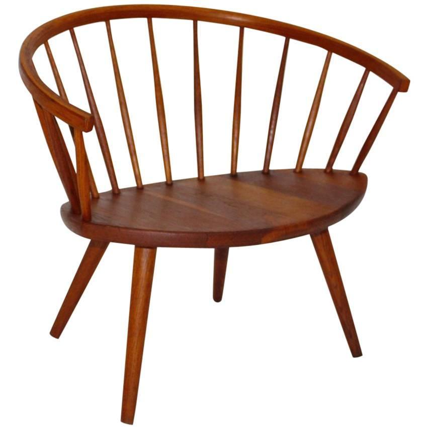 Oak Vintage Lounge Chair Arka by Yngve Ekström Sweden, 1955 Scandinavian Modern