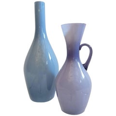 Two Mid-Century Swedish Glass Vases by Ekenäs