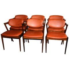 Kai Kristiansen Rosewood Dinning Chairs Model 42